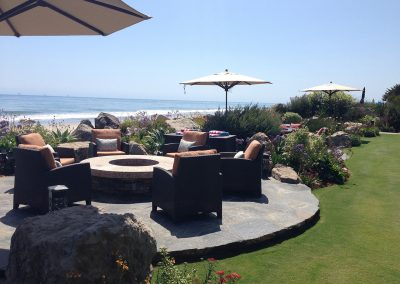 Carpinteria beach house landscape